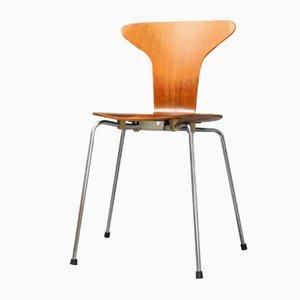 Silla Mosquito 3105 de teca de Arne Jacobsen para Fritz Hansen, 1967