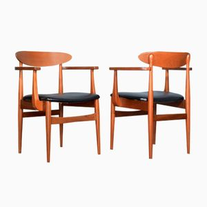 Mid-Century Teak Carver Chairs, Set of 2