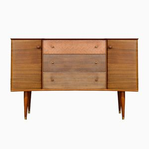 Mid-Century Walnut and Teak Sideboard by Peter Hayward for Uniflex