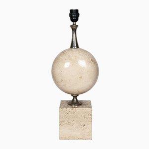 Lampada vintage in travertino di Barbier