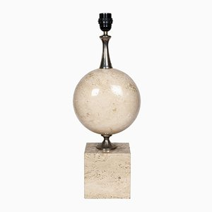 Vintage Travertine Lamp by Barbier
