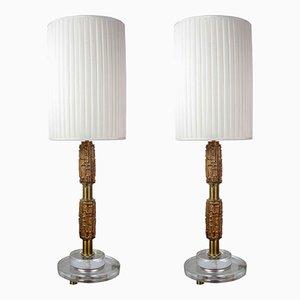 Lampes de Bureau par Luciano Frigerio, 1970s, Set de 2