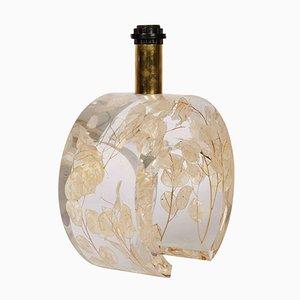 Lámpara de metacrilato con flores de Romeo Paris, años 70