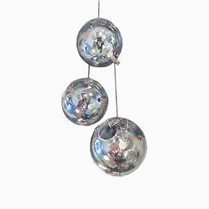 Sona Deckenlampen von Carlo Nason für Lumenform, 1973, 3er Set