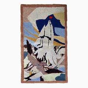 Amerikanischer handgefertigter Vintage Teppich, 1940er
