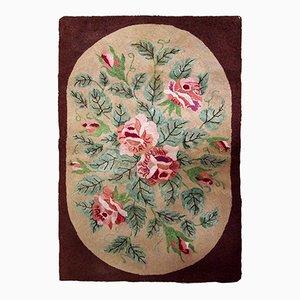 Antiker amerikanischer handgefertigter Teppich, 1900er