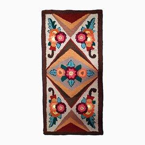 Amerikanischer handgefertigter Teppich, 1930er