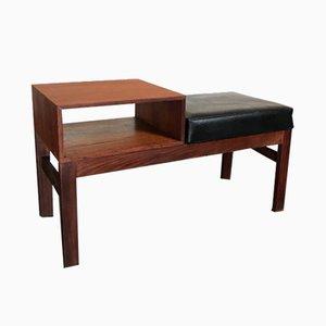 Mesa para el teléfono y asiento estilo danés Mid-Century