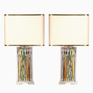 Lámparas de mesa de Maison Roméo, años 70. Juego de 2