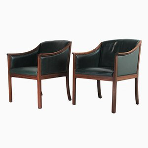 Lounge Chairs by Ole Wanscher for Poul Jeppesens Møbelfabrik, 1950s, Set of 2