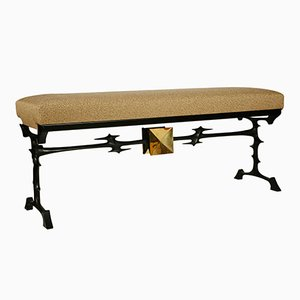 Vintage Bronze Bench by Peter Van Heeck