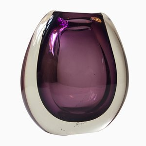 Danish Purple Sommerso Glass Vase by Per Lütken for Holmegaard, 1950s