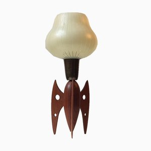 Mid-Century Rocket Shaped Table Lamp in Teak, 1950s
