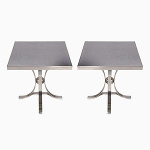 Vintage Steel Tables from Maison Jansen, Set of 2