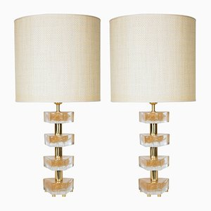 Vintage Murano Glass Lamps, Set of 2