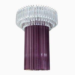 Lámpara de araña de cristal de Murano de Cenedese, años 80