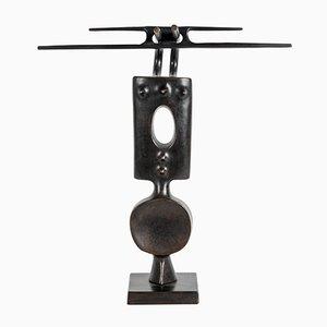 Escultura vintage de bronce de Victor Roman