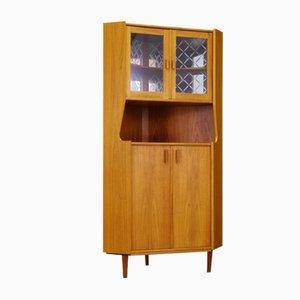 Vintage Danish Corner Cabinet in Teak