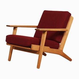 Oak GE 290 Easy Chair by Hans J. Wegner for Getama, 1970s