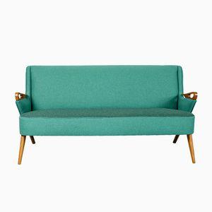 Dänisches Vintage Sofa mit Teakgestell von Erheg Ölsen Möbler, 1950er