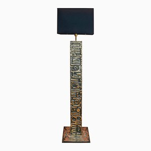 Vintage Bronze Floor Lamp by Enzo Missoni