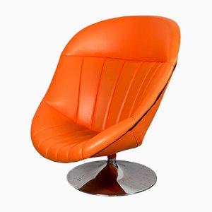 Oranger Sessel aus Skai von Rohé Noordwolde, 1970er