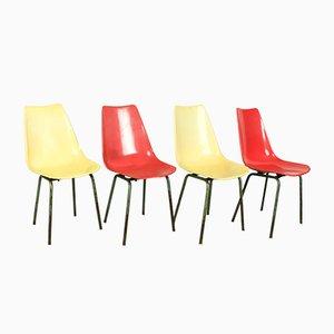 Esszimmerstühle aus Glasfaser von KVZ Semily, 1950er, 4er Set
