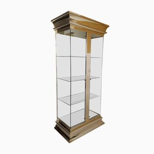 Vintage Large Brass & Glass Display Cabinet from Mastercraft
