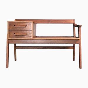 Mid-Century Teak Telephone Table/Bench
