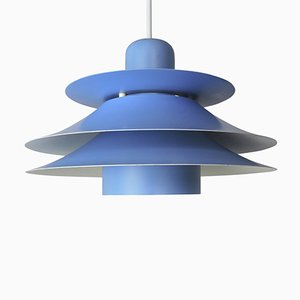 Danish Blue Multi-layered Model 753 Pendant Lamp from Horn Lighting, 1960s