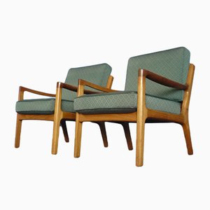 Senator Teak Chairs by Ole Wanscher for France & Søn, 1960s, Set of 2