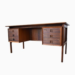 Brazilian Rosewood Veneer Executive Desk by Arne Vodder for Sibast Møbler, 1960s