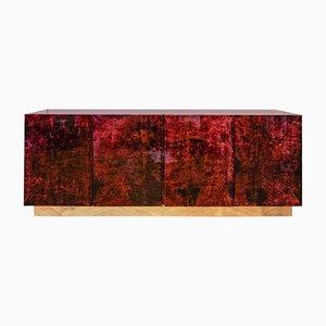 Sideboard aus Ziegenleder von Aldo Tura, 1970er