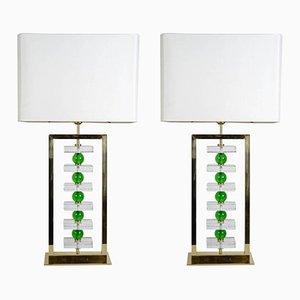 Vintage Murano Glaslampen, 2er Set