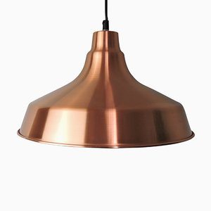 Danish Copper Pendant Light, 1970s