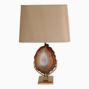 Lampe de Bureau Vintage en Laiton avec Agate