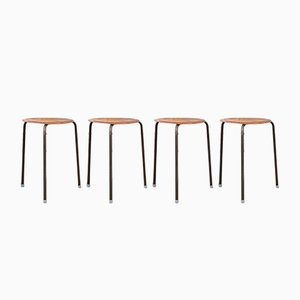 Dot Stools by Arne Jacobsen for Fritz Hansen, 1960s, Set of 4