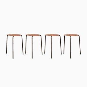 Taburetes Dot de Arne Jacobsen para Fritz Hansen, años 60. Juego de 4