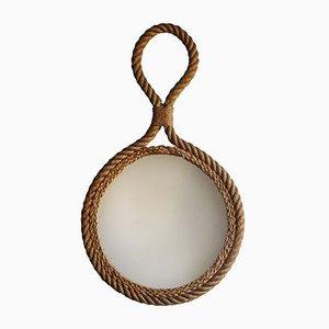 Espejo con marco de cuerda, años 60