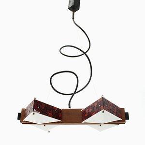 Lampada Mid-Century in perspex di Angelo Brotto per Esperia, Italia, anni '60