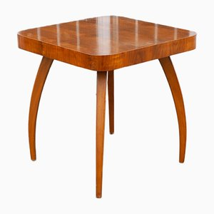 Art Deco Spider Side Table in Walnut by Jindřich Halabala for UP Zavody, 1930s