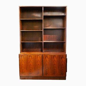 Estantería y armario de almacenamiento de palisandro de Omann Jun, años 60