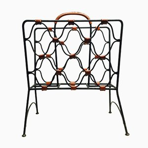Magazine Rack from Jacques Adnet, 1950s