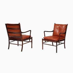 Koloniale PJ-149 Chairs von Ole Wanscher für Poul Jeppesens Møbelfabrik, 1949, 2er Set