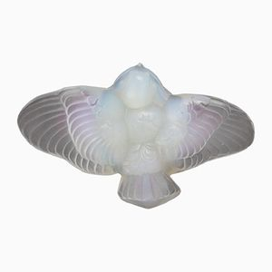Small Bird in Opalescent Glass from Ernest Marius Sabino, 1940s
