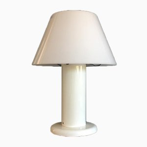 Vintage Table Lamp in White Acrylic