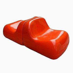 Italian Jumbo Lounge Chair by Alberto Rosselli for Saporiti, 1968