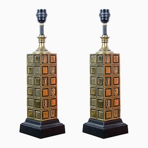 Chess Table Lamps, 1960s, Set of 2