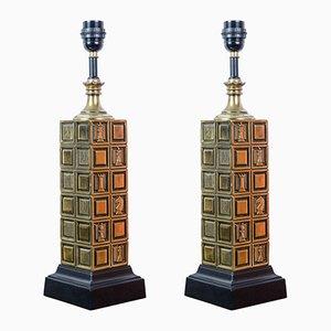 Lampade da tavolo Chess, anni '60, set di 2