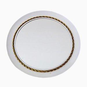 Vintage Spiegel mit geflochtenem Messingrahmen von Hans-Agne Jakobsson, 1960er